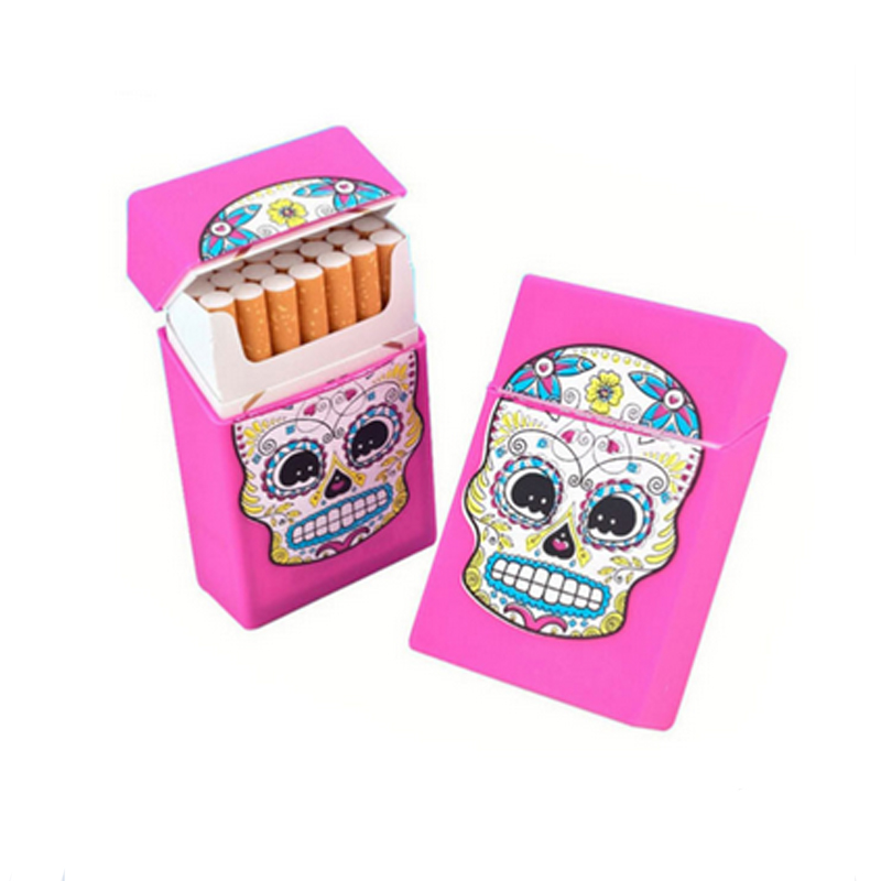 cute automatic silicone cigarette case for cigarette pack