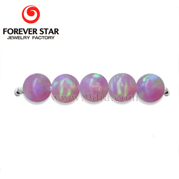 2018 New High Quality Bubble Gum Color Opal with Hole Firs Opal Stone Beads