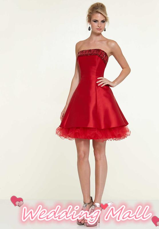 Get Quotations · Organza Ruffles Semi Formal Short Evening Dresses 8th  Grade Graduation Dresses 2014 Sexy Plus Size Beaded 43f9793a7795