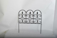 outdoor lawn edging decorative short metal garden fence