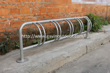 5 bike space hot dip galvanized metal bicycle stand bike parking rack bicycle rack