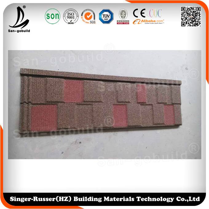 Whole sale roofing tile / Material with colorful sand coating
