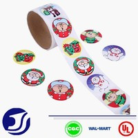 Colorful christmas sticker for stores