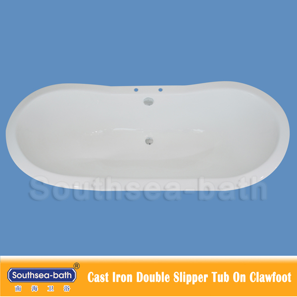 Cheap Double Slipper Clawfoot Cast Iron Bathtub/Freestanding Bath Tubs/Common Used hot tubs