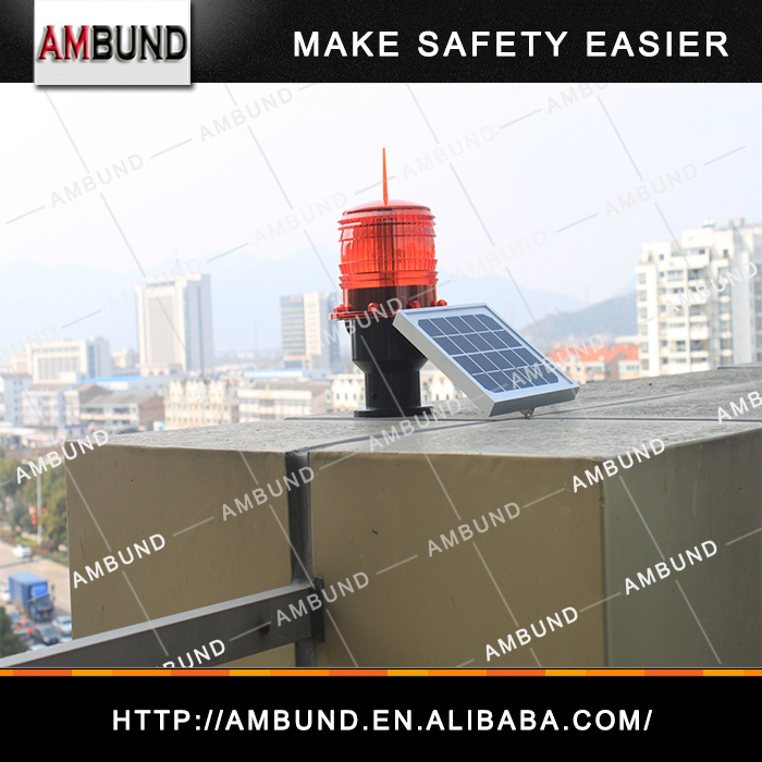 Waterproof IP65 with light control of Solar Aviation Obstruction Light