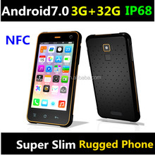2018 Cheapest 5'' inch NFC rugged smartphone with NFC RFID13.56mhz 4G network android7.0 3G+32G rugged phone waterproof phone