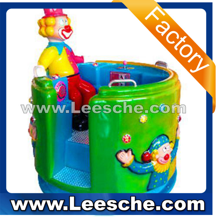 LSJQ-060 revolving kiddie ride for sale coin operated/ kiddie ride fiberglass toys/ used kiddie ride The clown rotor TH 1211