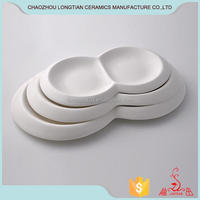 Cheap white dinner plates for restaurant bulk hotel used dinner plates