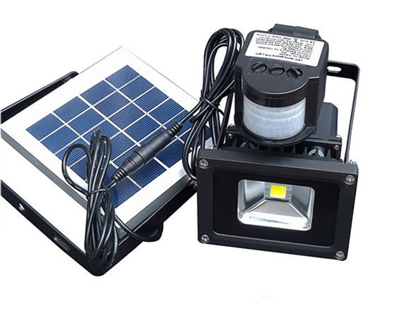 DC12V 24V led solar powered flood lights with pir motion sensor