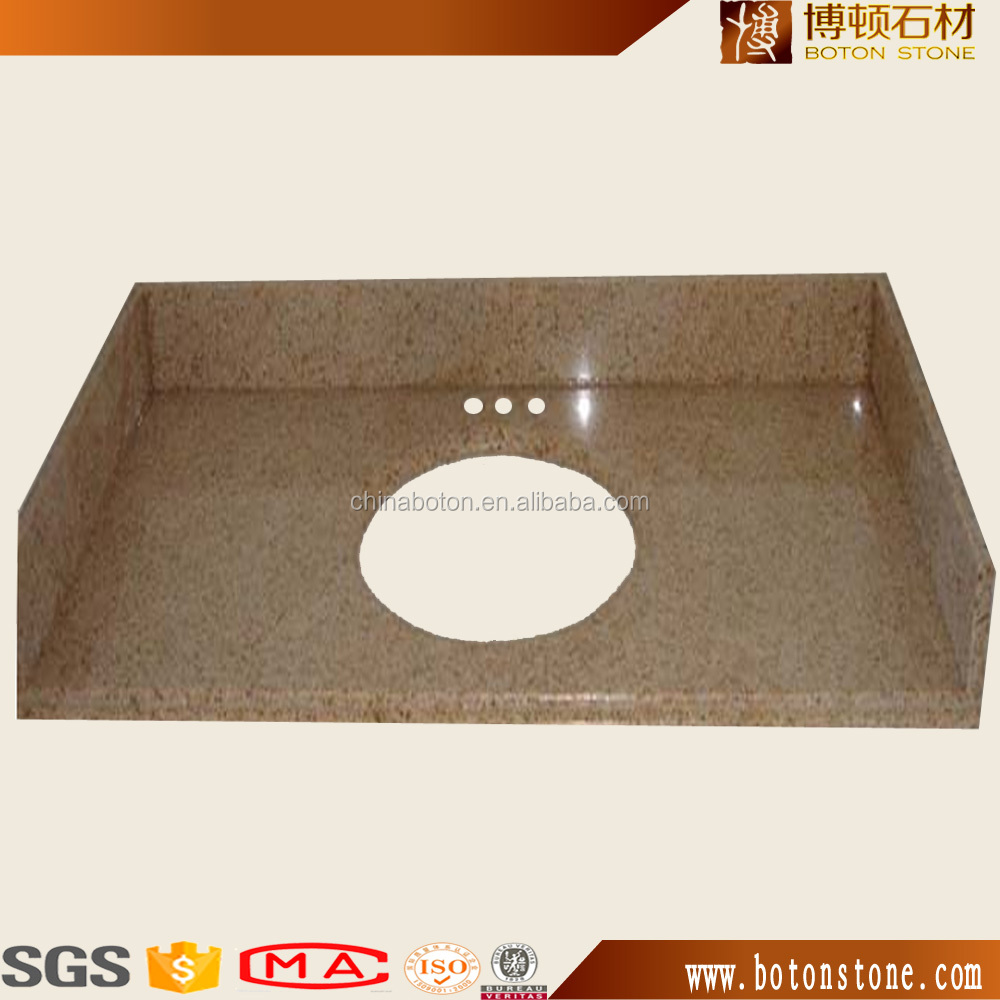 all kinds of cheap yellow rustic granite slab countertop/vanity top/dinning table for promotion