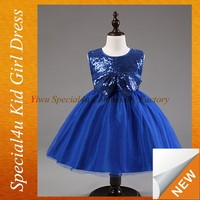 Kids new beauty party simple design dress for girls SPXC-198