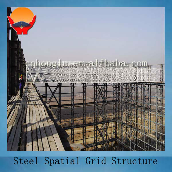 Steel spatial grid structure building