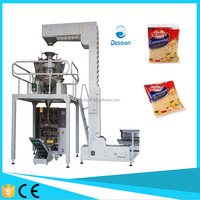 Multi heads weighing automatic cheese packing machine