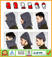 Newest and Functional 6 in 1 Neck Warm Helmet Winter Face Hat Fleece Hood Ski Mask Equipment