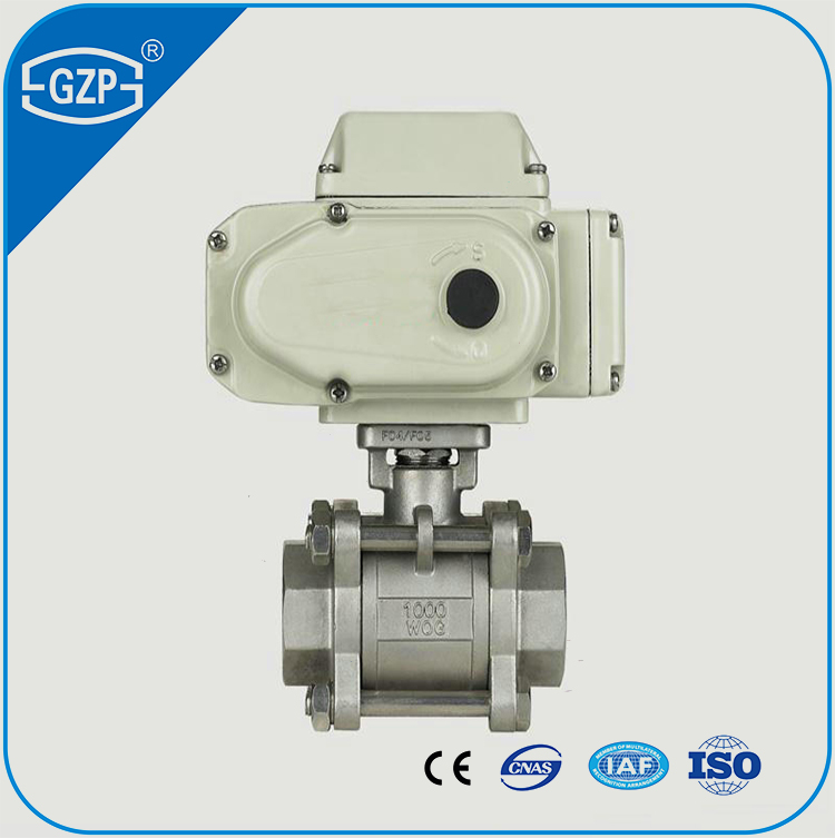 ASME B16.34 3PC 1000WOG pneumatic electric actuator ball valve