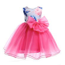 New flower girl dresses for wedding pattern kid frock 3 year old birthday party dress