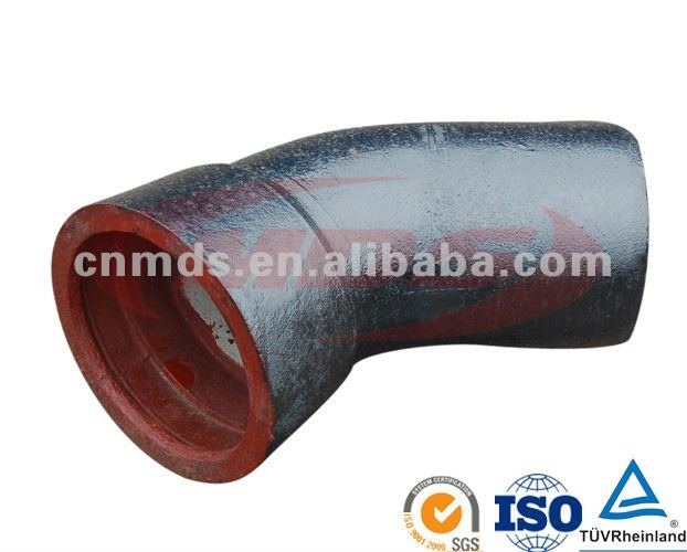 ductile pipe fitting socket spigot 22.5 bend MDS010