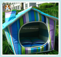 Luxury Design Double Roof Pet Dog House Accessories For Puppy D-15 Chihuahua Cat Home Products