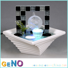 resin decorative table top water fountain for wedding decoration
