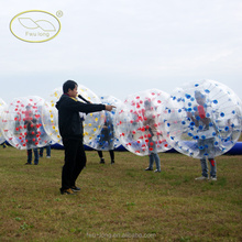 Promotional 100% TPU bubble ball soccer /human bubble ball for football