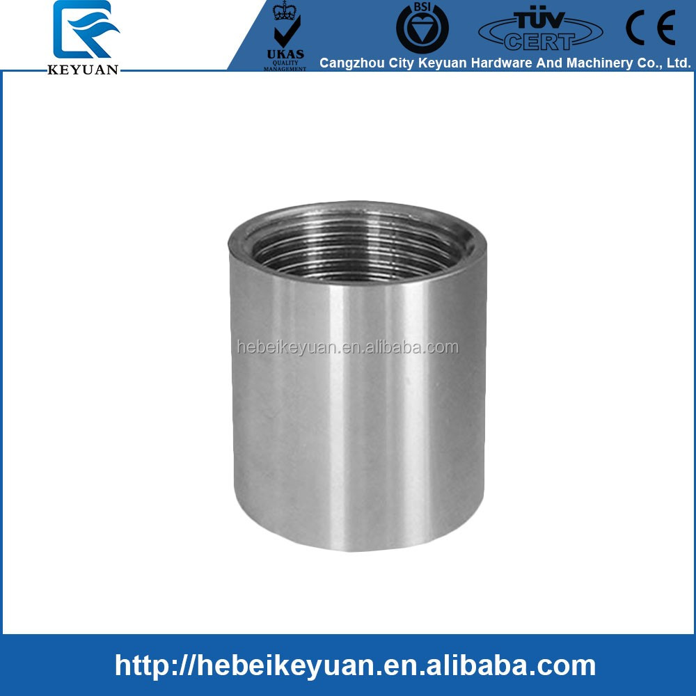 Quot socket weld stainless steel full coupling pipe