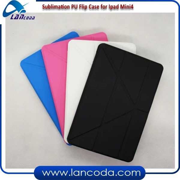 NEW design TPU Sublimation PU flip cover for ipad mini 4 phone case