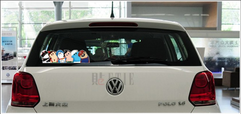 7*26cm Interest Crooked Neck Car Stickers Mini Cooper
