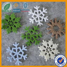 laser cut felt shapes snow for christmas decoration