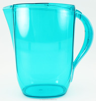 RED, TURQUOISE, LIME GREEN, ORANGE 3L OVAL AS PLASTIC WATER PITCHER W/LID & SPOUT