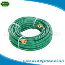 Ningbo/yuyao High quality 25/50/75/100/150FT snake garden hose with brass fittings show with video