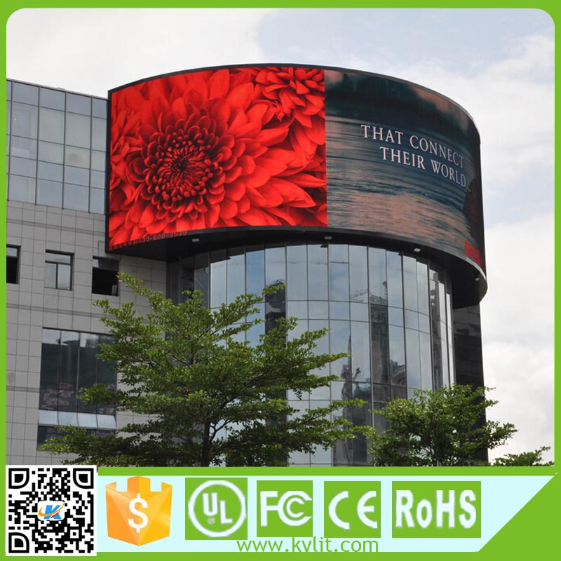LED good visual display video function outdoor p8 led wall screen