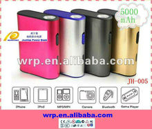 5000mah high quality portable power bank for ipad iphone PSP GPS etc.