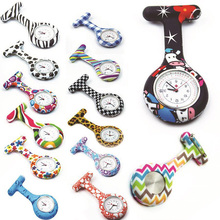 Wholesale colorful silicone nurse pocket watch,brooch watch