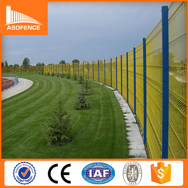 many natural color high tension fence panel/wire mesh fence/cheap vinyl lattice fence