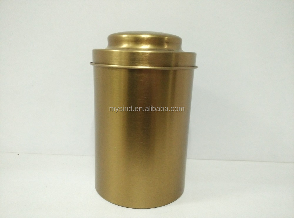 Aluminum tea cup with lid, Metal drinking caddy