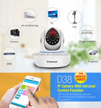 VStarcam smart home infrared IR control home appliances TV, Air Conditioner camera ip hd
