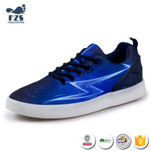HFS-X-160 lastest design lightning graphical style casual shoes for men