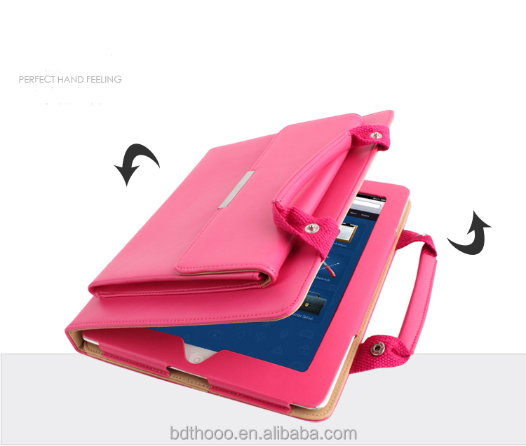 Hot sell genuine leather handbag shape case for IPAD COVER