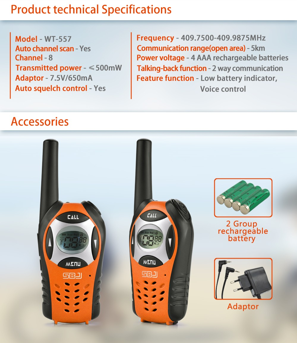 5km long communication range radio mini walkie talkie rechargeable
