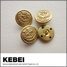 new design latest fashion golden button with costom design