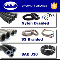 auto parts high performance braided hose fittings with nylon /stainless steel /gasoline hose