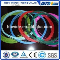 Cheap PVC wire / colored PVC coated wire / Plastic coated iron wire (FACTORY MANUFACTURER)
