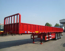 CIMC Tri axle 60 ton FUWA axle side wall high bed cargo semi-trailer
