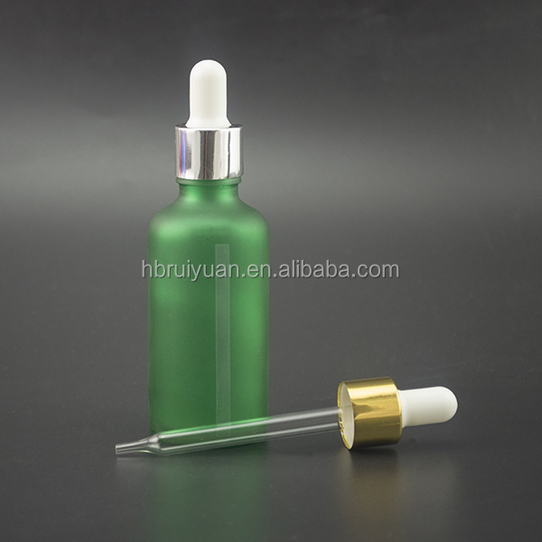 frosted glass round shoulder Essential oil bottles