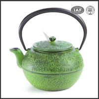 Antique 0.8L enamel chinese cast iron teapots
