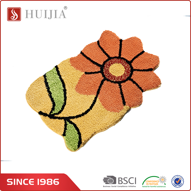 HUIJIA China Market Wholesale High Quality Sunflower Pattern Home Indoor Carpet Rug and Floor Mat