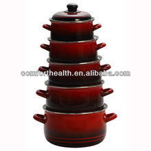 5pcs red color wholesale enamelware set