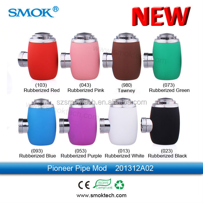 Hot sale smok pioneer pipe mod full mechanical rubber vaporizer smoking pipe