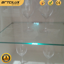 innovative products for import mini shape shelf clip led light for 6-9mm thickness glass panel