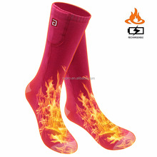 SVPRO 3.7V Smart Adjust Temparaturer Rechargeable Battery Winter Warm Heated Socks For Chronically Cold Feet